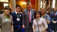 4-H members at Capitol