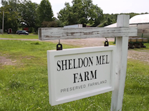 Sheldon Mel farm sign