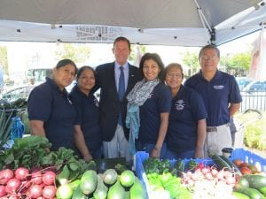 Blumenthal and urban ag students