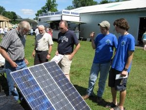 solar panels at 4-H fair
