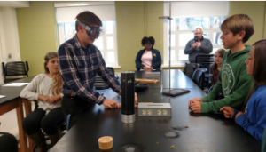 4-H youth science experiment with STEM
