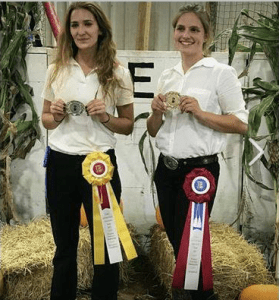 Cloe Labranche (left) and Laura Irwin at the 2017 Little International Livestock Show at UConn.