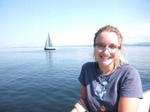 Irene Reichl a Connecticut 4-H alumna out sailing