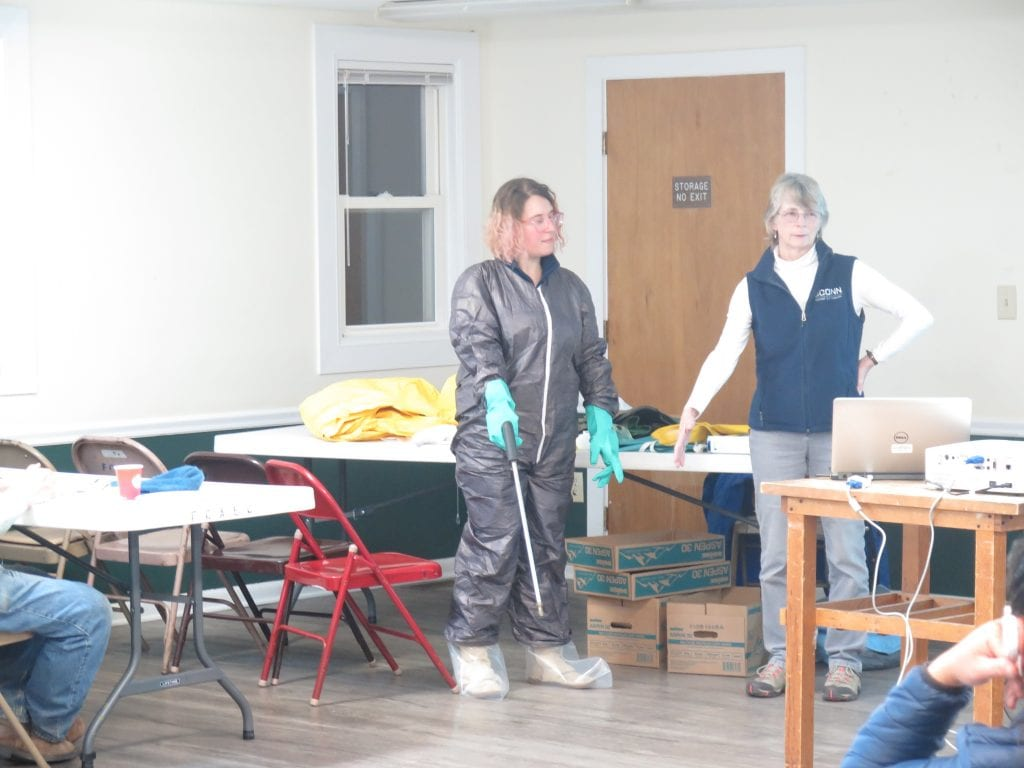solid ground farmer training models pesticide safety outfit