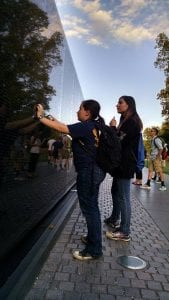 4-H member at Vietnam Memorial in Washington DC