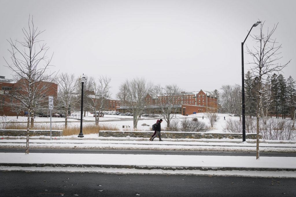 UConn campus in the snow