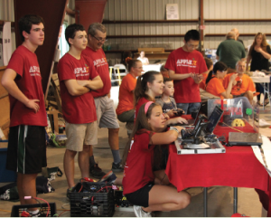 4-H youth at robotics event