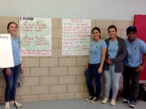 Angie and other teen mentors at a program