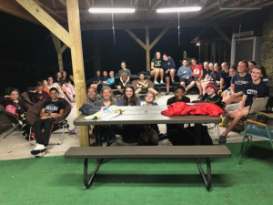 group of 4-Hers at New London County 4-H Camp