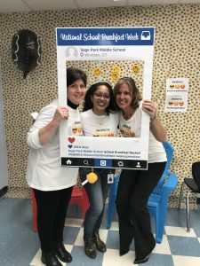 National School Breakfast week at Sage Park Middle School in Windsor