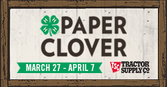 paper clover graphic
