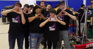 Robotics team after winning competition