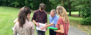 Climate Corps students work with a land use official in a Connecticut town