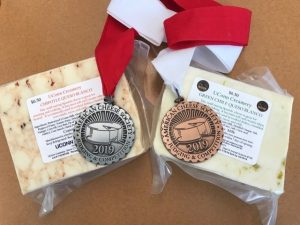 UConn Creamery cheese with awards from 2019