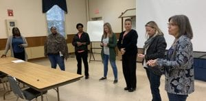 Group activity at the UConn PEP facilitator training in Haddam in early October