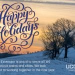 Happy Holidays from UConn Extension