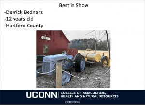 best of show slide for UConn 4-H photo contest