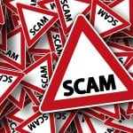 road signs that say scam