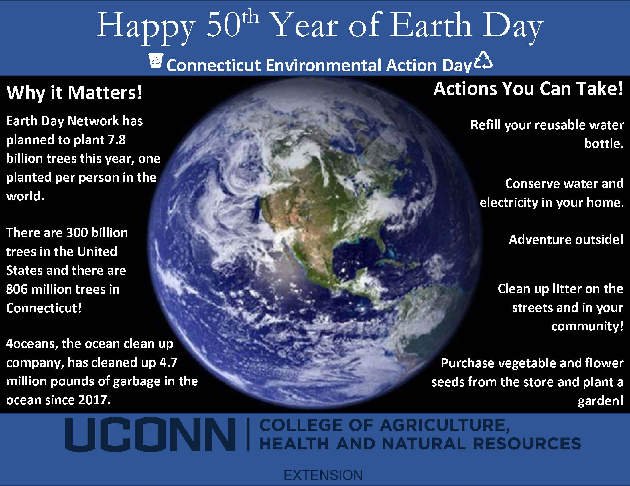 Earth Day advertising/information