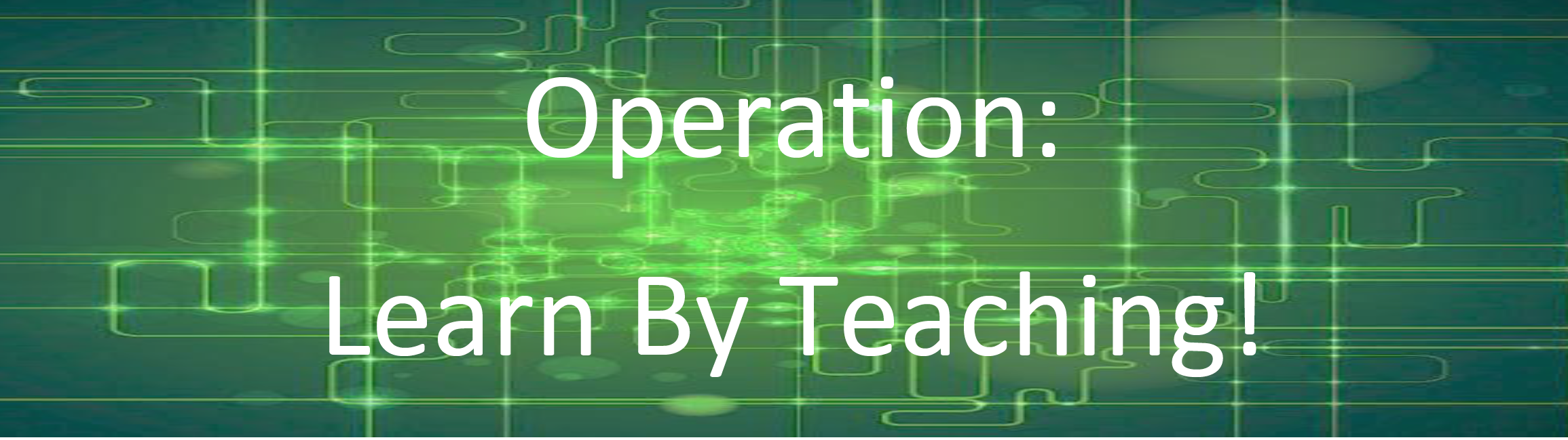 operation learn by teaching banner