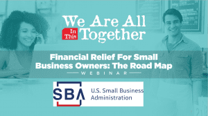 SBA powerpoint on relief programs for farmers opening slide