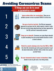 avoiding coronavirus scams flyer
