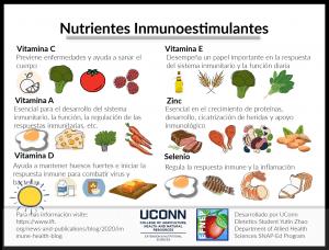 immune boosting nutrients flyer