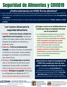 food safety flyer in Spanish