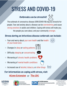 stress and covid-19 flyer