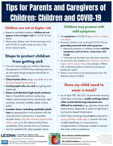 tips for parents and caregivers of children flyer