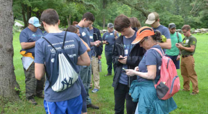 students and adults in a Conservation Training Partnership program at UConn