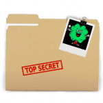 folder file with clover