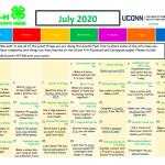 UConn 4-H July Activity Calendar