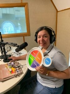 Zoraida Velazquez talks about MyPlate on Radio Love in Bridgeport